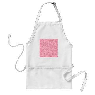 Pink Leopard Print Pattern. Standard Apron