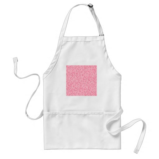 Pink Leopard Print Pattern. Apron