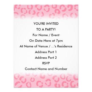 Pink Leopard Print Pattern. Custom Invites