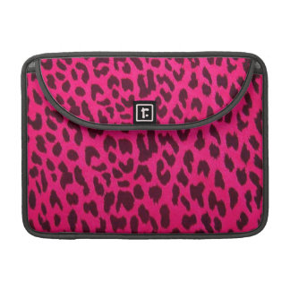 Pink Leopard Print Rickshaw Flap Sleeve for MacBoo