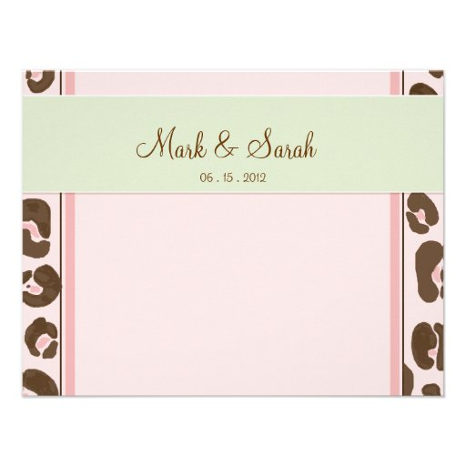 Pink Leopard RSVP Personalized Announcement