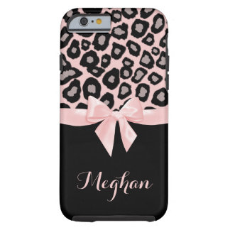 Pink Leopard Spots and Bow Tough iPhone 6 Case