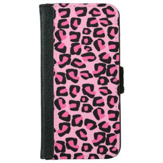 Pink leopard spots,animal print iPhone 6 wallet case