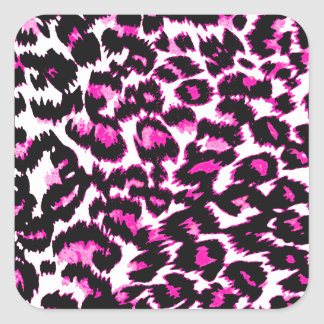 Pink Leopard Spots Sticker