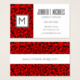 Pink leopard texture pattern. business card