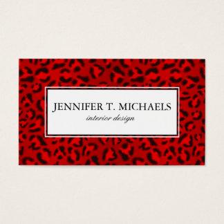 Pink leopard texture pattern. business card