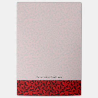 Pink leopard texture pattern. post-it notes