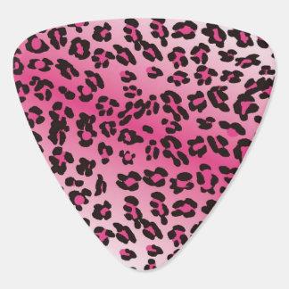 Pink Leopard Triangle Guitar Pick