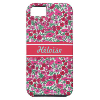 Pink Liberty flower First name personnalisable iPhone 5 Covers
