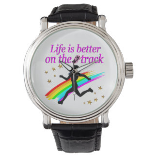 PINK LIFE IS BETTER ON THE TRACK DESIGN WATCHES