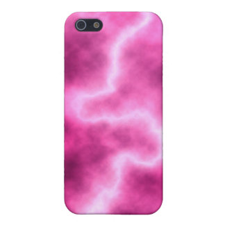 Pink Lightning iphone Case Cover For iPhone 5