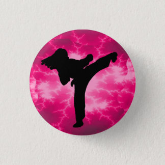 Pink Lightning Lady Button