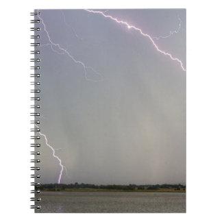 Pink Lightning Strikes Notebook