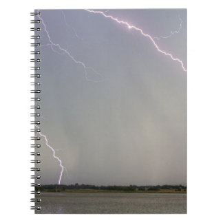 Pink Lightning Strikes Spiral Notebooks