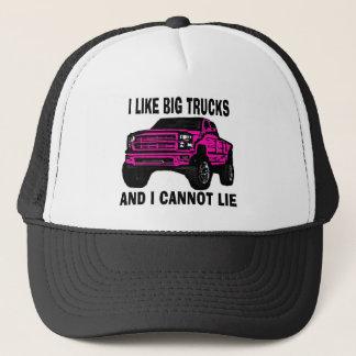 Pink like big trucks cannot lie trucker hat