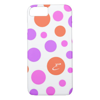 PINK LILAC AND RED POLKADOTS CHEERFUL IPHONE CASE