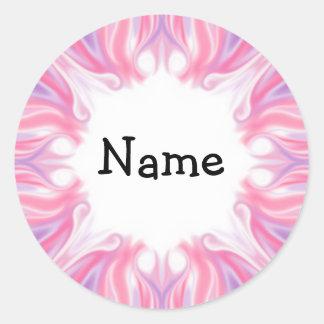 Pink & Lilac Design Classic Round Sticker