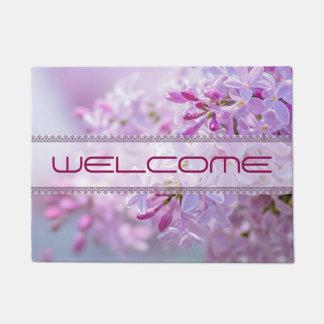 Pink lilac flowers doormat