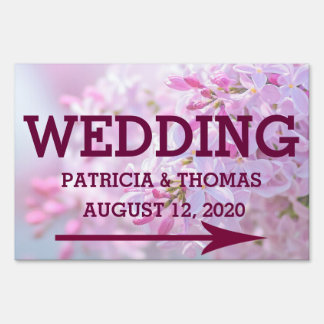 Pink lilac flowers sign