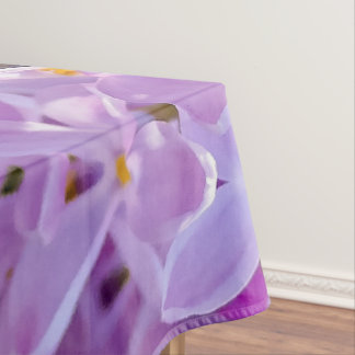Pink lilac flowers tablecloth