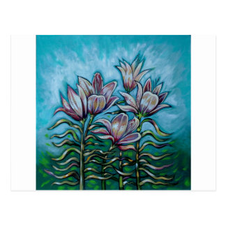 Pink Lilies in Sunny Sky Postcard