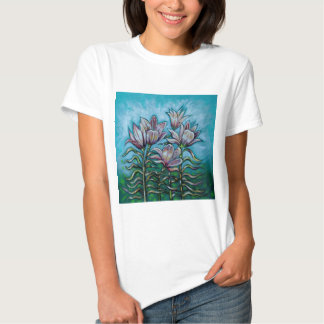 Pink Lilies in Sunny Sky Shirt