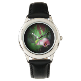Pink Lilly garden flower photo print for watch