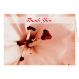Pink Lilly Thank You Note Card