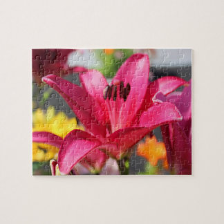 Pink Lily and other Flowers Jigsaw Puzzle