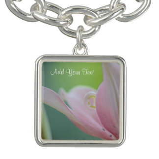 Pink Lily by Shirley Taylor Charm Bracelets