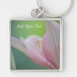 Pink Lily by Shirley Taylor Keychain