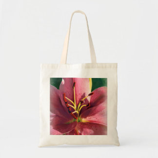 Pink Lily Drawing Tote Bag