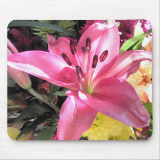 Pink Lily Flower Lilies Flowers Photo Mouse Pad