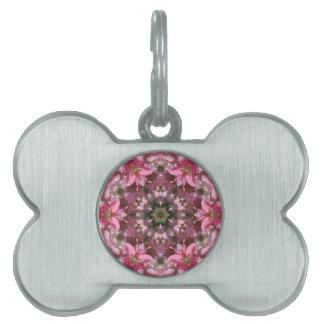 Pink Lily Fusion Kaleidoscope Pet Name Tags