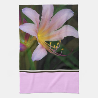 Pink Lily Kitchen Towel
