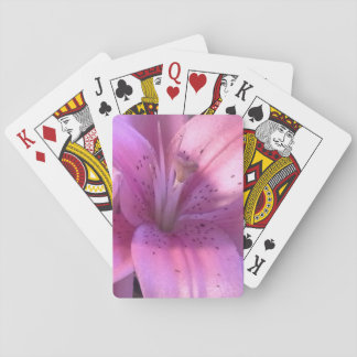 Pink Lily Playing Cards