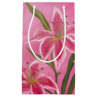Pink Lily Small Gift Bag