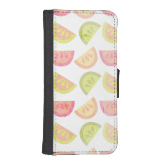 Pink, Lime Green, Orange, Yellow, Tropical Citrus iPhone SE/5/5s Wallet Case