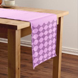 Pink line art short table runner