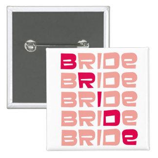 Pink Line Bride Favors Pinback Buttons