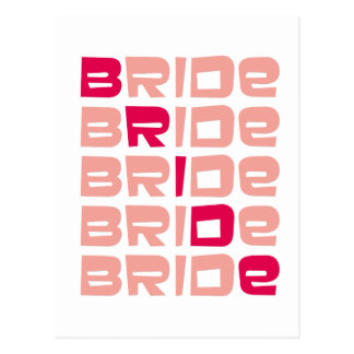 Pink Line Bride Favors Postcard