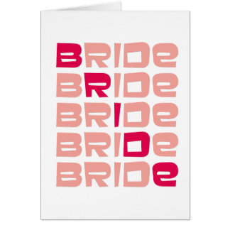 Pink Line Bride Greeting Card