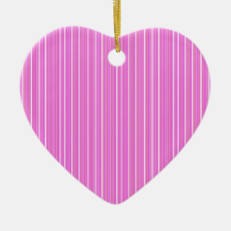 Pink lines ceramic heart ornament