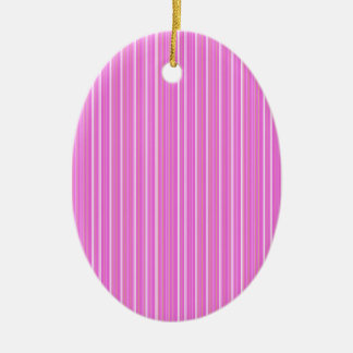 Pink lines ceramic oval ornament