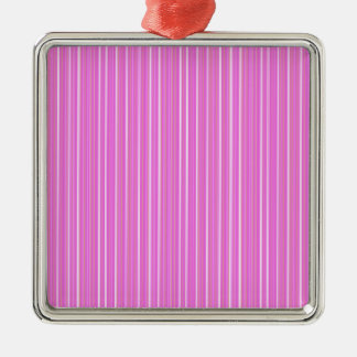 Pink lines Silver-Colored square ornament