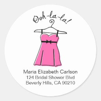 Pink Lingerie Bridal Shower Address Labels