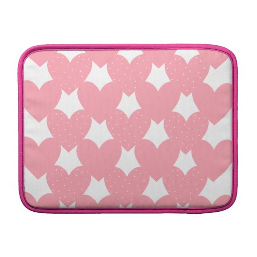 Pink Linked Hearts Sleeves For MacBook Air