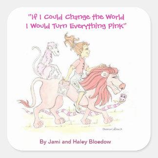 Pink Lion Sticker