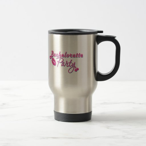pink lips cherries bachelorette party bridal coffee mug
