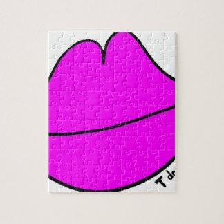 Pink Lips Jigsaw Puzzle